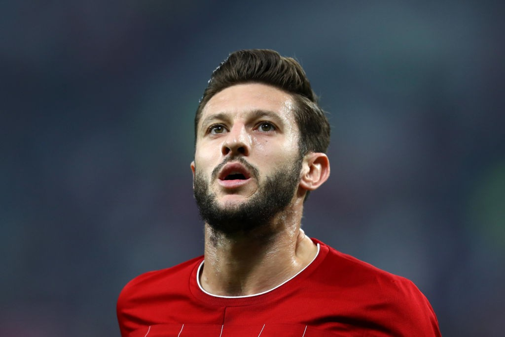 DOHA, QATAR - DECEMBER 21: Adam Lallana of Liverpool looks on during the FIFA Club World Cup Qatar 2019 Final between Liverpool FC and CR Flamengo at Education City Stadium on December 21, 2019, in Doha, Qatar. (Photo by Francois Nel/Getty Images)
