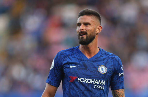 Olivier Giroud of Chelsea during the Premier League match between Chelsea FC and Leicester City at Stamford Bridge on August 18, 2019 in London, United Kingdom.
