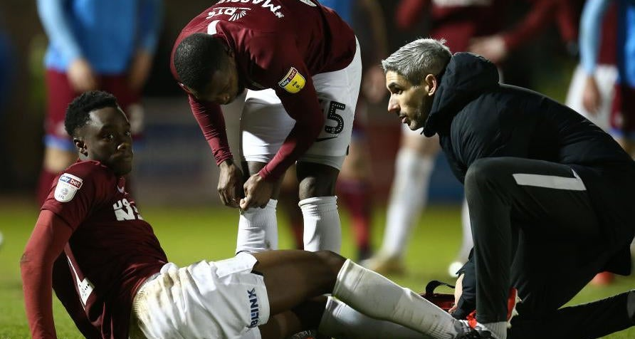 James Olayinka picks up injury on Northampton Town debut (Photo via Northampton Chronicle and Echo)
