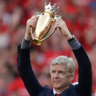 arsene wenger premier league gold trophy aresenal manager