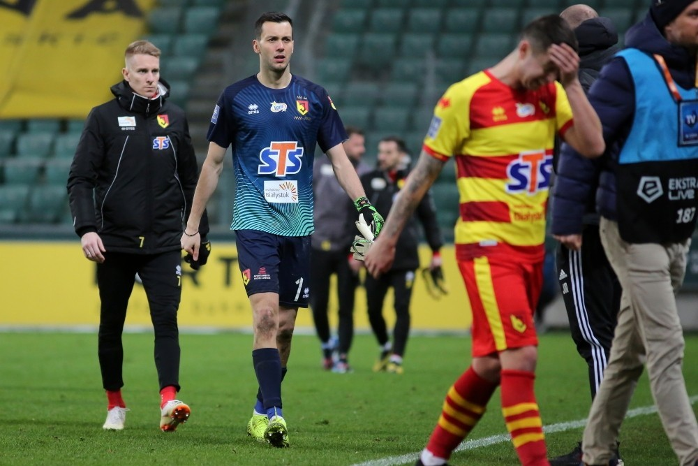 Dejan Iliev after Jagiellonia's match against Legia Warsaw (Photo via Jagiellonia.pl)