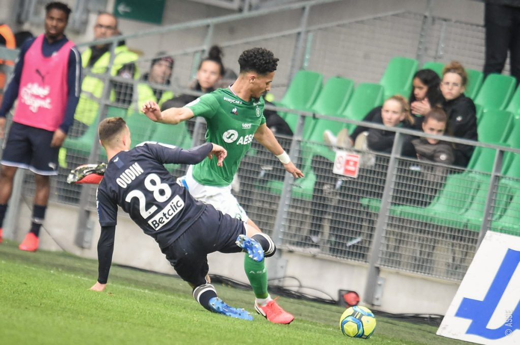 William Saliba with Saint-Etienne against Bordeaux (Photo via Asse.fr)