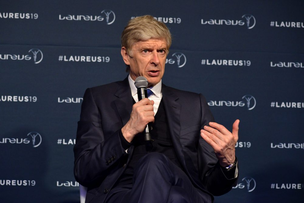 MONACO, MONACO - FEBRUARY 18: Arsene Wenger winner of the Laureus Lifetime Achievement award speaks at the Winners Press Conference during the 2019 Laureus World Sports Awards on February 18, 2019 in Monaco, Monaco. (Photo by Christian Alminana/Getty Images for Laureus)