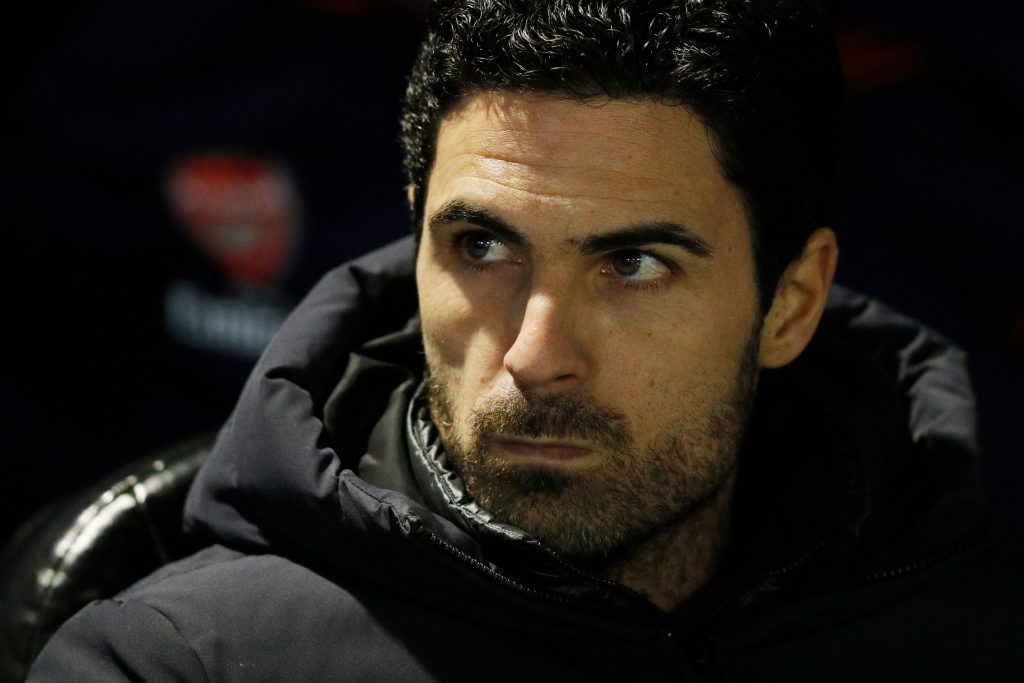 Arsenal's Spanish head coach Mikel Arteta is seen ahead of the English FA Cup fifth round football match between Portsmouth and Arsenal at Fratton Park stadium in Portsmouth, southern England, on March 2, 2020.