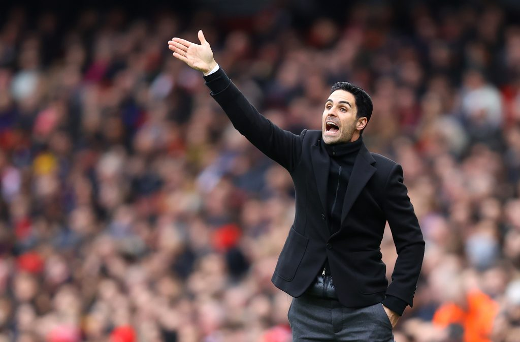 Mikel Arteta, Manager of Arsenal reacts during the Premier League match between Arsenal FC and West Ham United at Emirates Stadium on March 07, 2020 in London, United Kingdom.