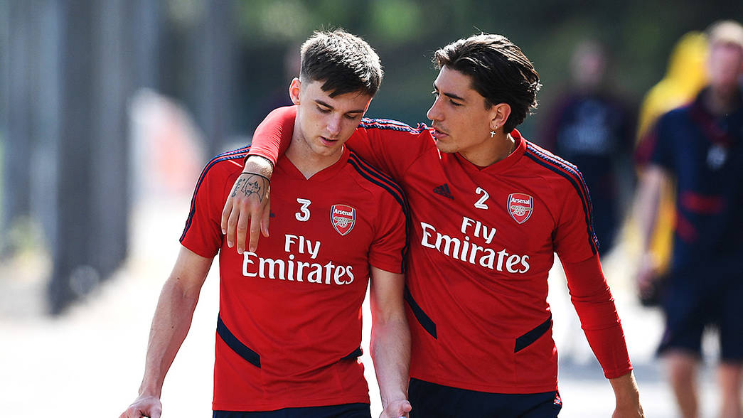 Kieran Tierney and Hector Bellerin (Photo via Arsenal.com)
