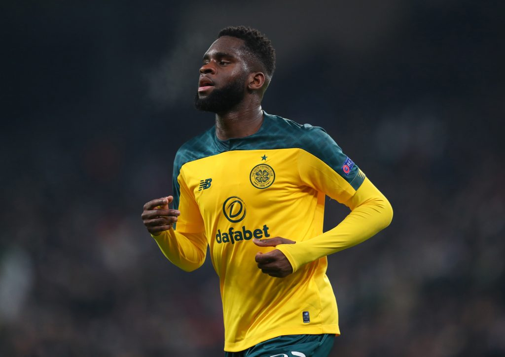 COPENHAGEN, DENMARK - FEBRUARY 20: Odsonne Edouard of Celtic during the UEFA Europa League Round of 32 first leg match between FC Kobenhavn and Celtic FC at Telia Parken on February 20, 2020, in Copenhagen, Denmark. (Photo by Catherine Ivill/Getty Images)