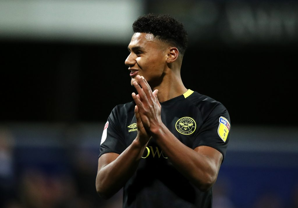 LONDON, ENGLAND - OCTOBER 28: Ollie Watkins of Brentford acknowledges the fans. Taken during the match between Queens Park Rangers and Brentford at The Kiyan Prince Foundation Stadium on October 28, 2019, in London, England. (Photo by Alex Pantling/Getty Images)