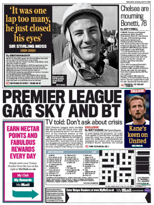 2004 daily mail back page gag sky sports