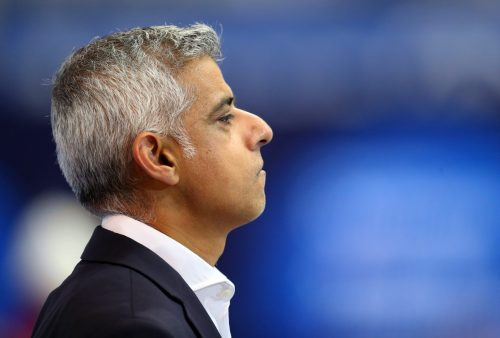 LONDON, ENGLAND - SEPTEMBER 12: Mayor of London, Sadiq Khan attends on Day Four of the London 2019 World Para-swimming Allianz Championships at Aquatics Centre on September 12, 2019 in London, England. (Photo by Catherine Ivill/Getty Images)
