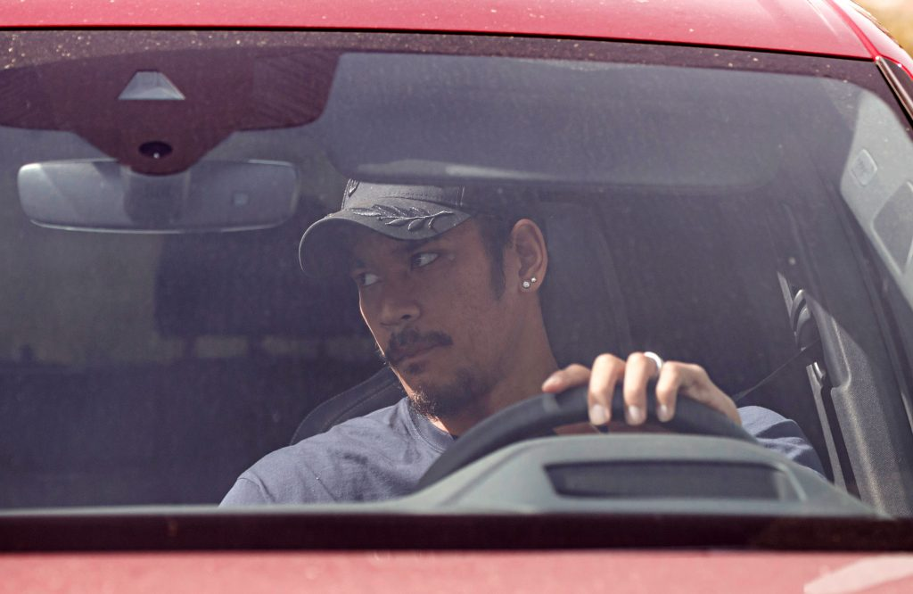 Real Madrid's French goalkeeper Alphonse Areola arrives to undergo coronavirus tests at the Ciudad del Real Madrid training facilities in Valdebebas, Madrid, on May 6, 2020. - Real Madrid started to undergo coronavirus tests today as La Liga clubs planned to return to restricted training ahead of the proposed resumption of the season next month. (Photo by BALDESCA SAMPER / AFP) (Photo by BALDESCA SAMPER/AFP via Getty Images)