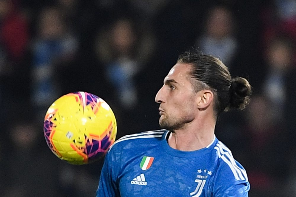 Juventus' French midfielder Adrien Rabiot eyes the ball during the Italian Serie A football match SPAL vs Juventus on February 22, 2020 at the Paolo-Mazza stadium in Ferrara. (Photo by Isabella BONOTTO / AFP) (Photo by ISABELLA BONOTTO/AFP via Getty Images)
