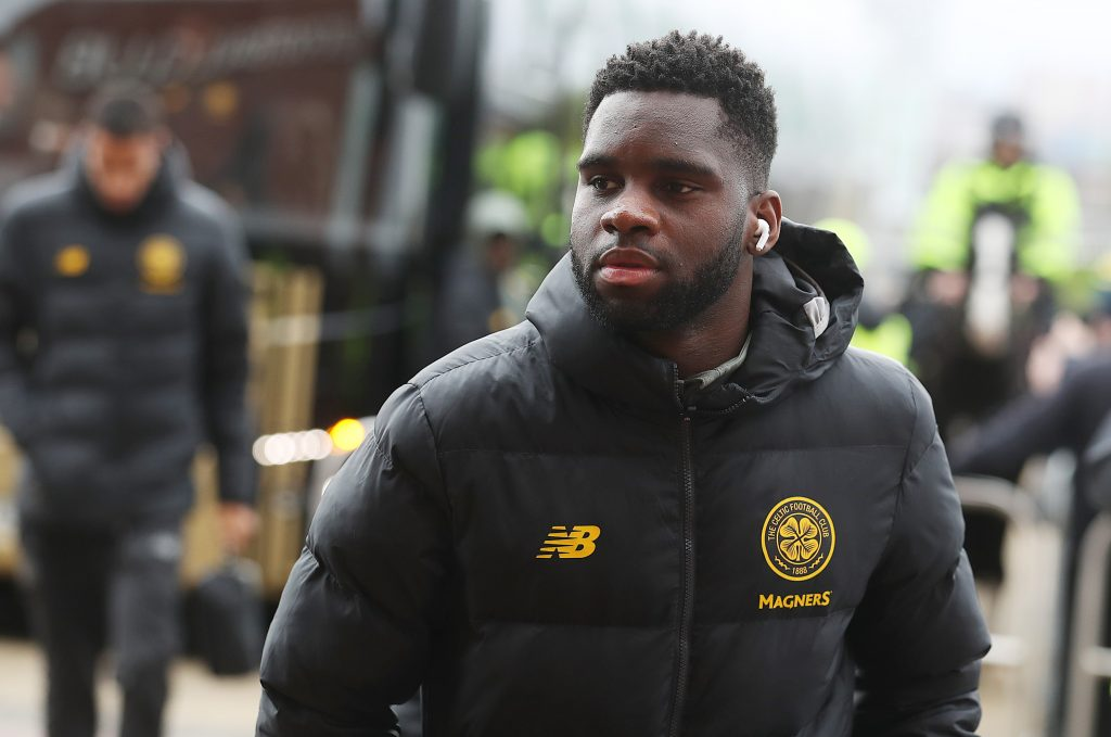 GLASGOW, SCOTLAND - MARCH 07: Odsonne Edouard of Celtic is seen prior to the Ladbrokes Premiership match between Celtic and St. Mirren at Celtic Park on March 07, 2020 in Glasgow, Scotland. (Photo by Ian MacNicol/Getty Images)