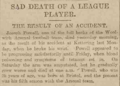 Monday 30 November 1896, taken from the Sheffield Daily Telegraph but it seems to be a widely circulated agency piece as it appeared in multiple papers.