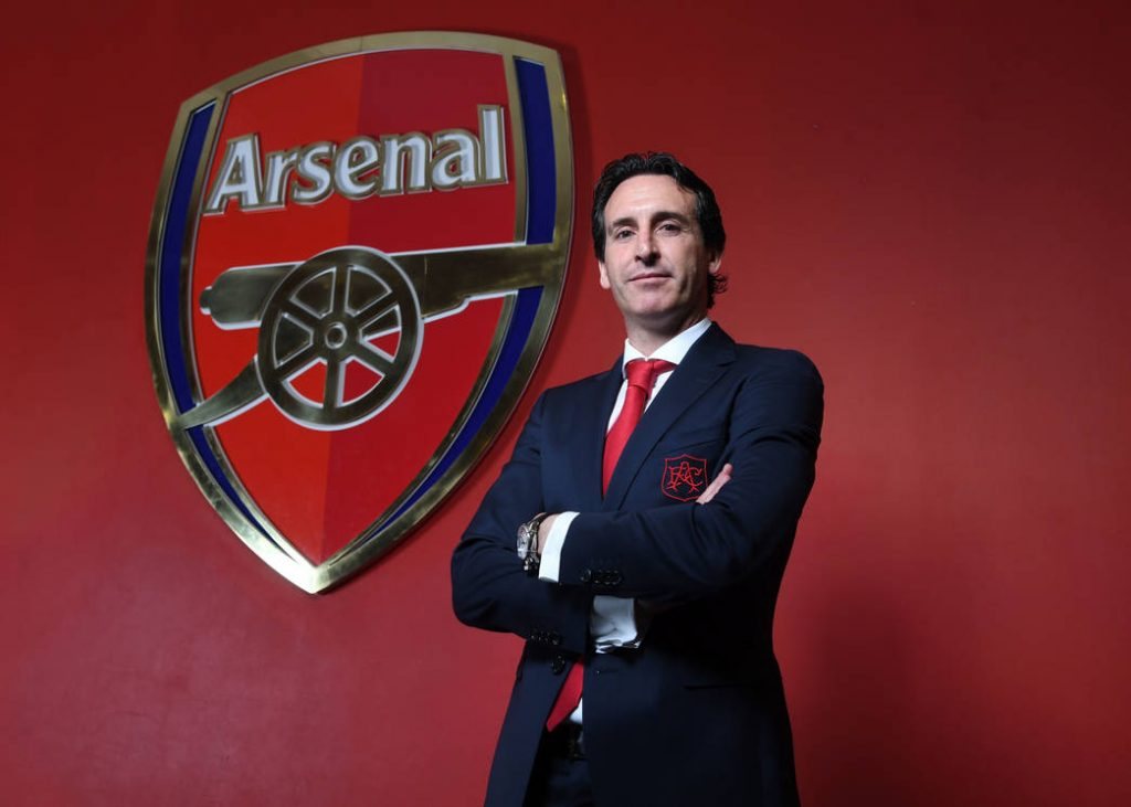 LONDON, ENGLAND - MAY 23: Arsenal Unveil New Head Coach Unai Emery at Emirates Stadium on May 23, 2018 in London, England. (Photo by Stuart MacFarlane/Arsenal FC via Getty Images)