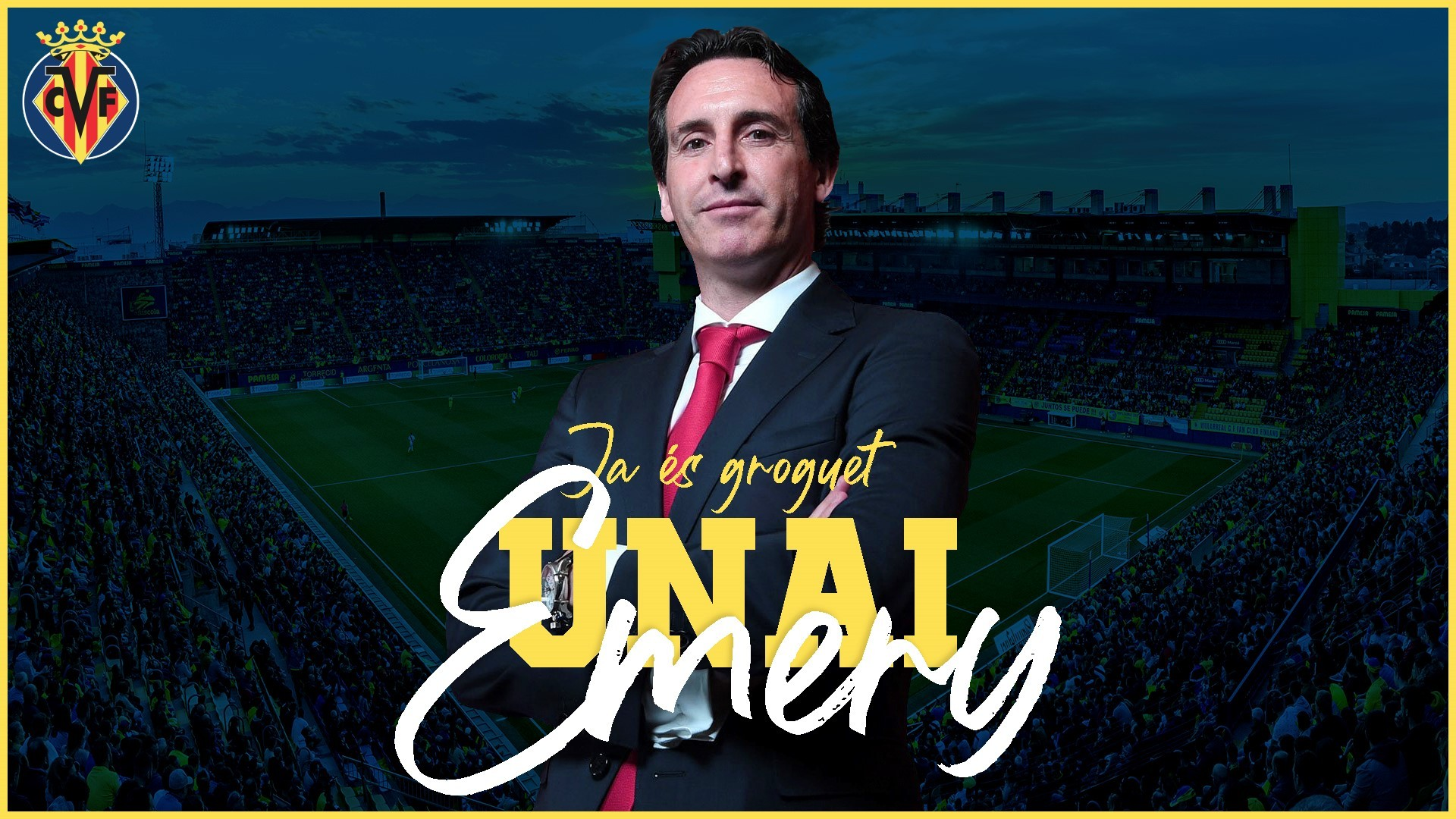Villarreal unveil Unai Emery as head coach (Photo via Villarreal CF)