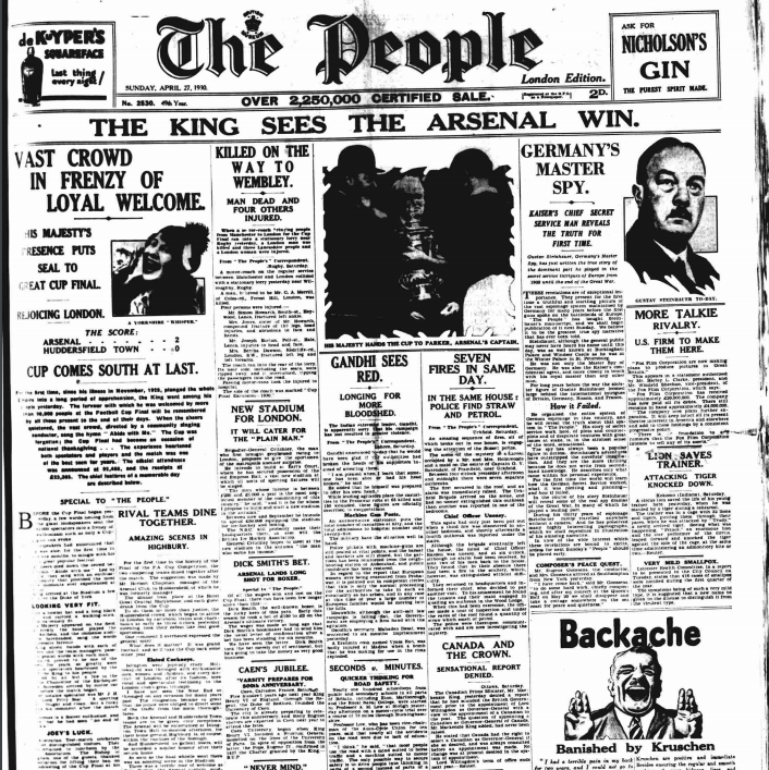 The People, Sunday April 27 1930