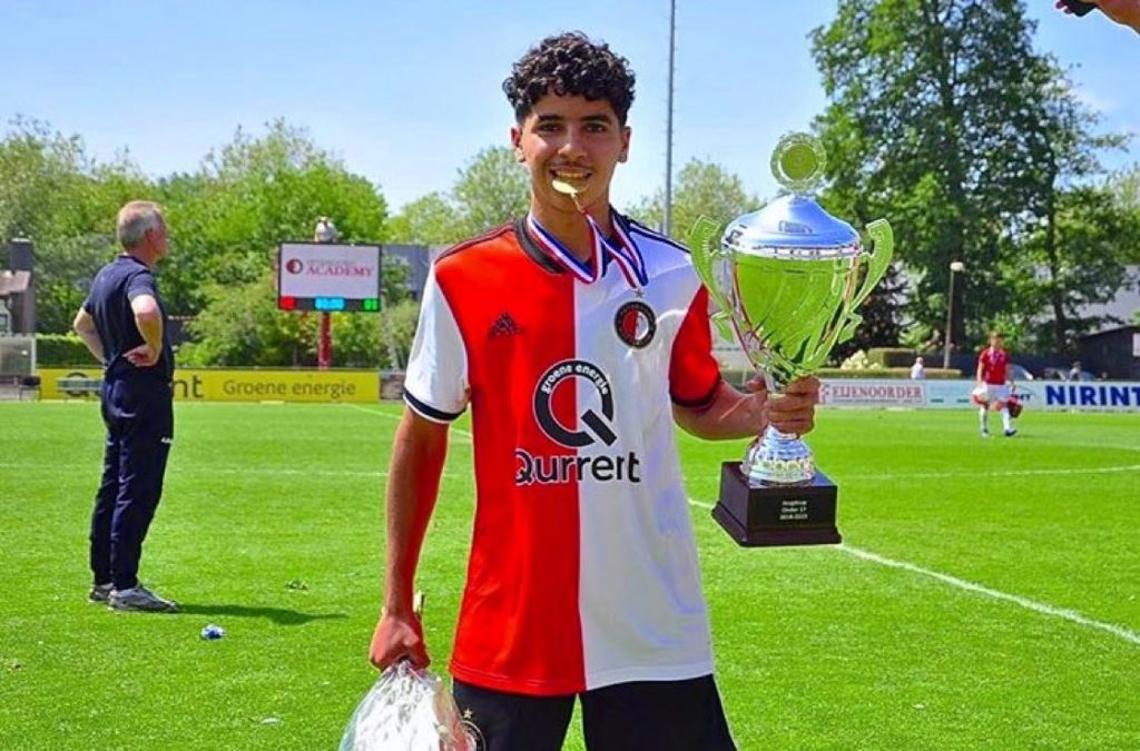 Salah-Eddine Oulad M'hand with Feyenoord (Photo via SCCR212 on Twitter)