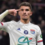 Houssem Aouar to Arsenal? Lyon's French midfielder Houssem Aouar celebrates after scoring the opener during the French Cup quarter-final football match between Olympique Lyonnais and Olympique de Marseille at the Groupama stadium in Decines-Charpieu near Lyon, central eastern France on February 12, 2020. (Photo by ROMAIN LAFABREGUE / AFP)