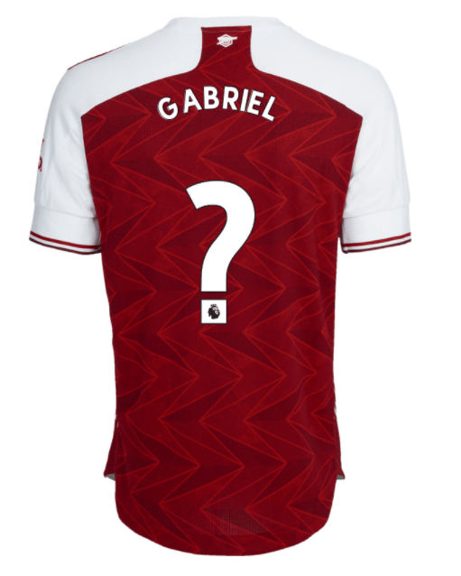 Arsenal Shirt Numbers Gabriel Magalhaes