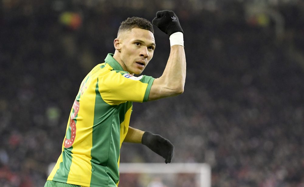 SHEFFIELD, ENGLAND - DECEMBER 14: Kieran Gibbs of West Bromwich Albion celebrates after scoring his sides second goal during the Sky Bet Championship match between Sheffield United and West Bromwich Albion at Bramall Lane on December 14, 2018 in Sheffield, England. (Photo by George Wood/Getty Images)