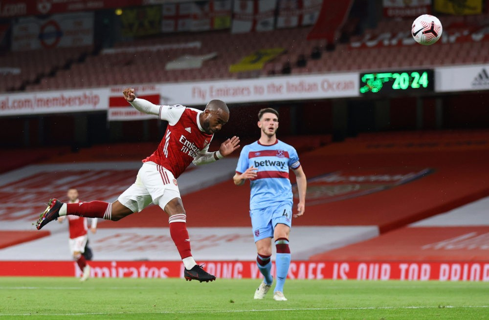 LONDON, ENGLAND - SEPTEMBER 19: <> during the Premier League match between Arsenal and West Ham United at Emirates Stadium on September 19, 2020 in London, England. (Photo by Julian Finney/Getty Images)