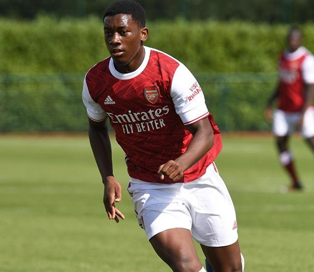 Khayon Edwards with the Arsenal u18s (Photo via Edwards on Instagram)
