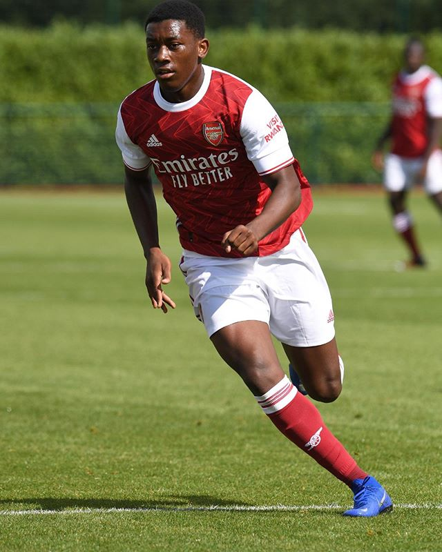 Khayon Edwards with the Arsenal u18s (Photo via Edwards on Instagram)