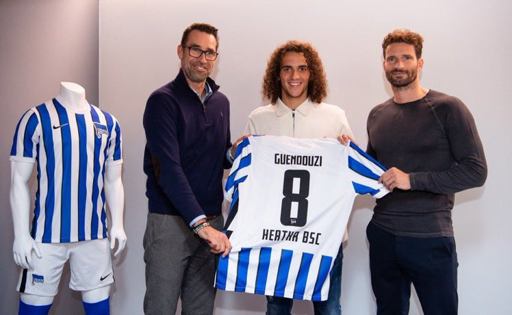 Matteo Guendouzi with Hertha BSC (Photo via Hertha on Twitter)