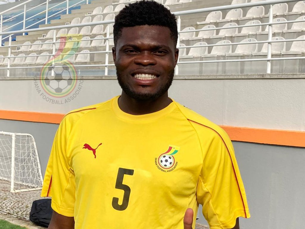Thomas Partey with Ghana (Photo via Ghana on Twitter)