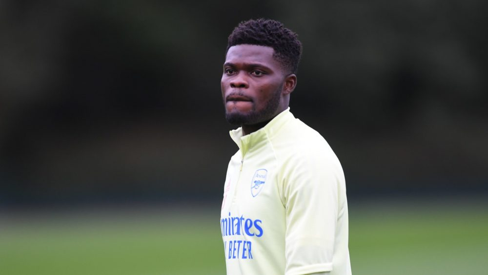 Thomas Partey with Arsenal (Photo via Arsenal on Twitter)