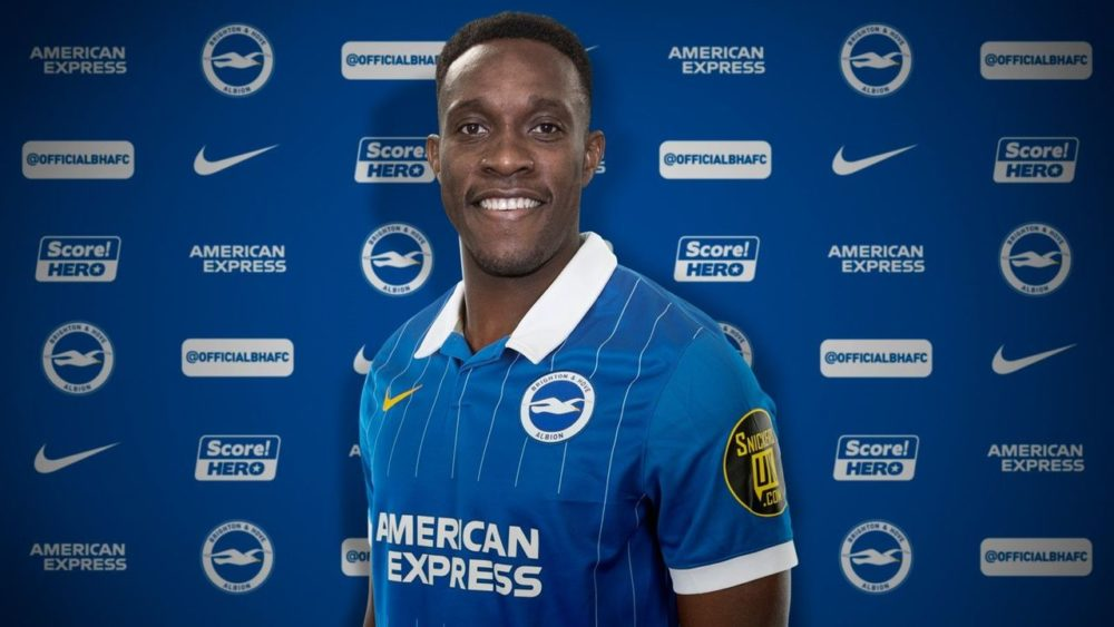 Danny Welbeck with Brighton and Hove Albion (Photo via BHAFC)