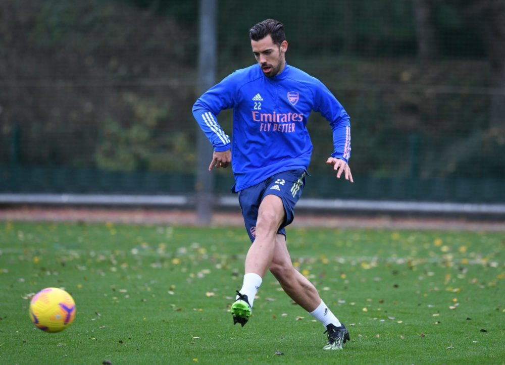 Pablo Mari in training with Arsenal (Photo via Chris Wheatley on Twitter)