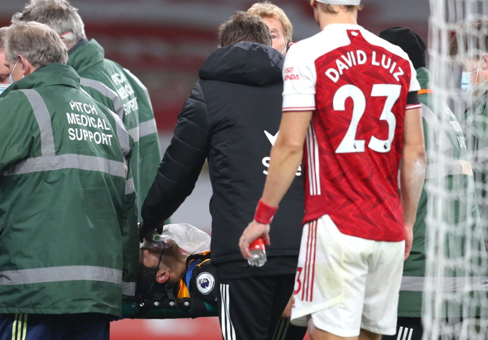 Raul Jimenez undergoes surgery for fractured skull after David Luiz head  clash
