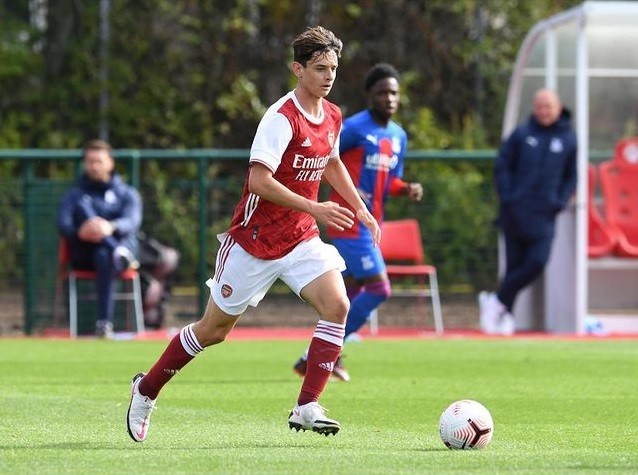 Charlie Patino with the Arsenal u18s (Photo via Patino on Instagram)