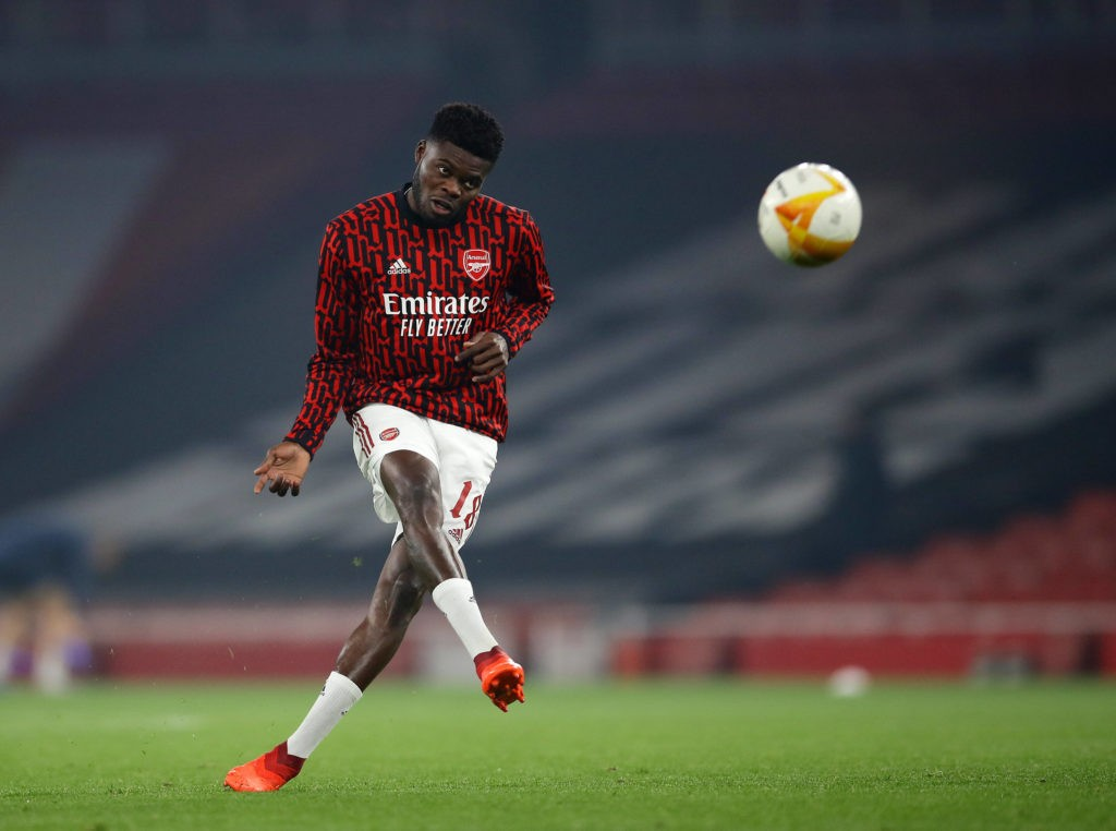 Arsenal's Thomas Partey during the UEFA Europa League match at the Emirates Stadium, London. Picture date: 5th November 2020. Photo: David Klein / Sportimage