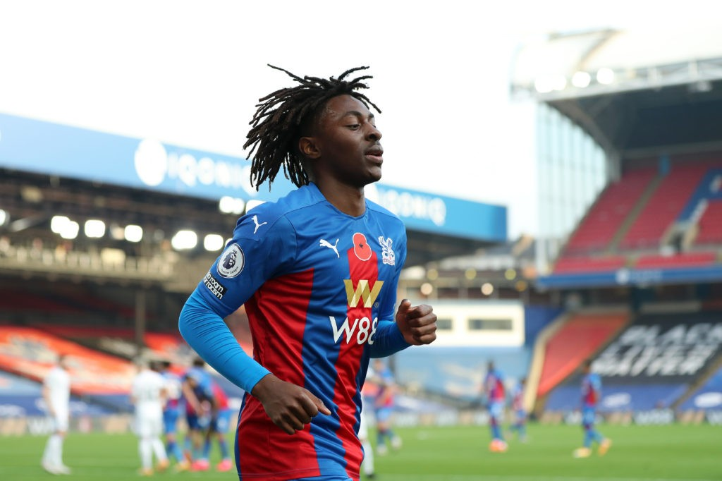 LONDON, ENGLAND: Eberechi Eze of Crystal Palace in action during the Premier League match between Crystal Palace and Leeds United at Selhurst Park on November 07, 2020. (Photo by Naomi Baker/Getty Images)