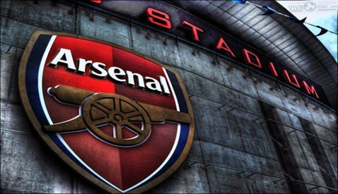 The Arsenal badge outside the Emirates Stadium