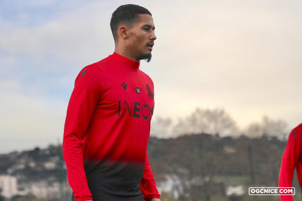 William Saliba in training with OGC Nice (Photo via Nice on Twitter)
