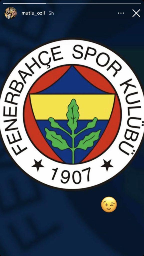 Fenerbahce badge posted on Mutlu Özil's Instagram story