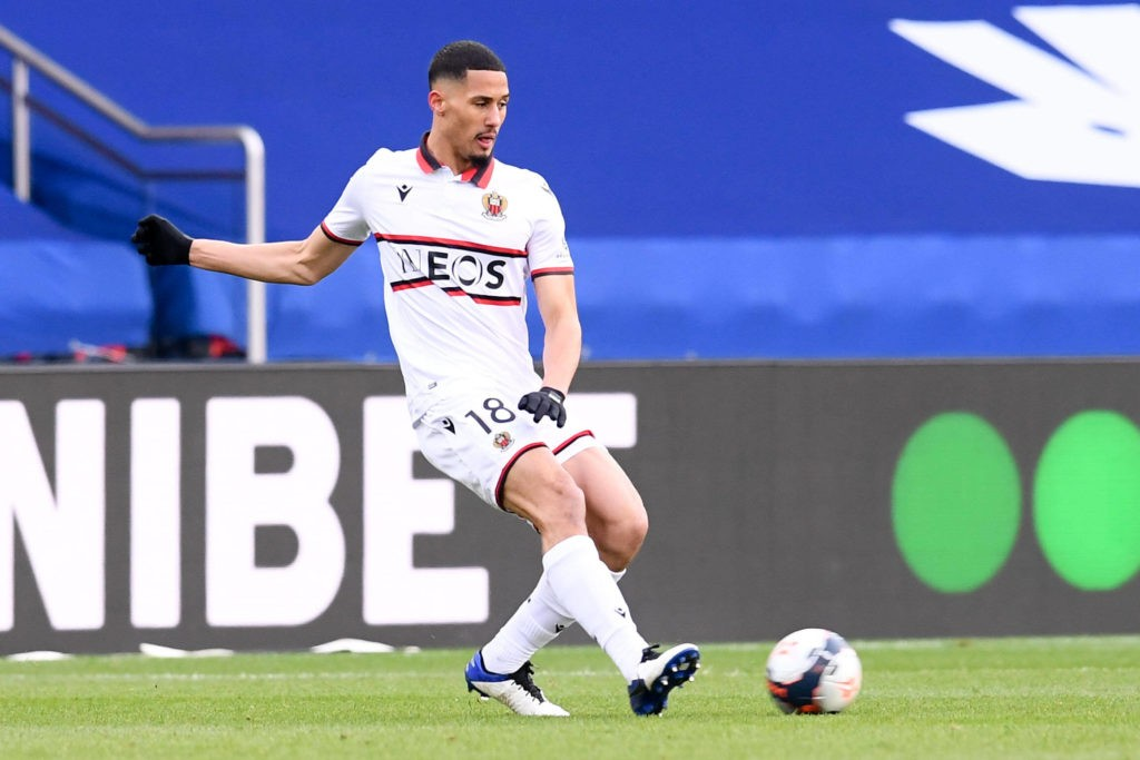 William Saliba playing for OGC Nice against Paris Saint-Germain on 13th February 2021 (Photo via FEP / Panoramic)