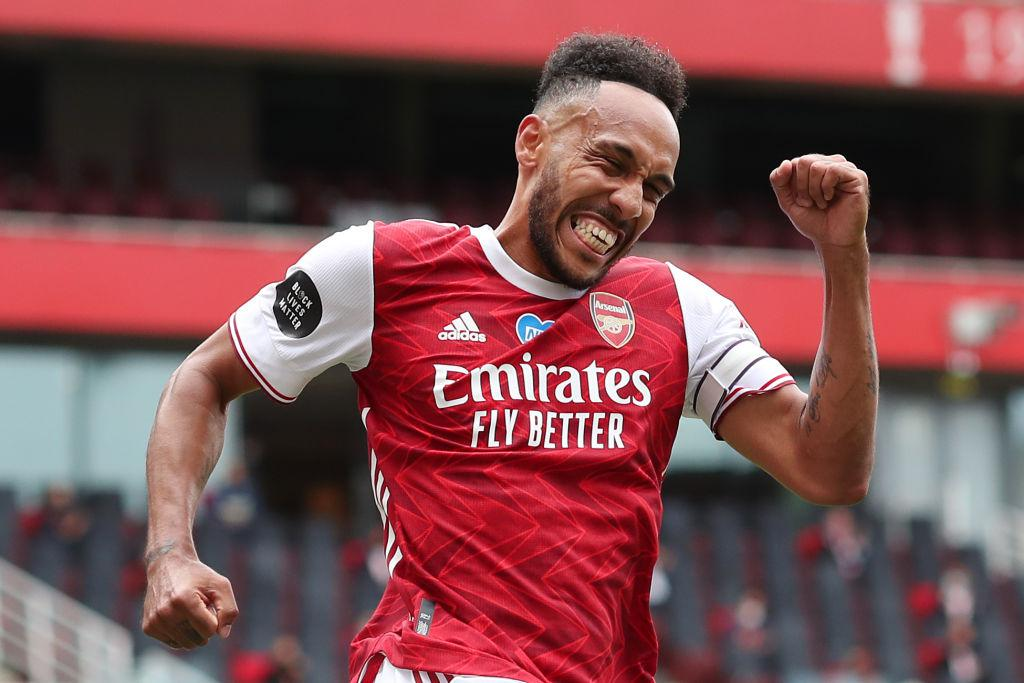 Pierre-Emerick Aubameyang with Arsenal (Photo via Getty Images)