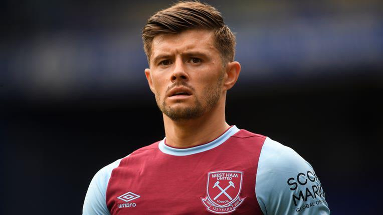 Aaron Cresswell with West Ham United (Photo via Getty Images)