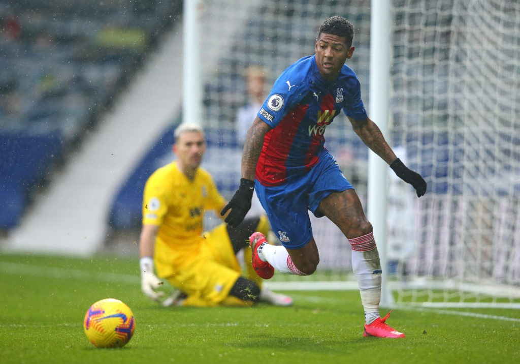 WEST BROMWICH, ENGLAND: Patrick van Aanholt of Crystal Palace during the Premier League match between West Bromwich Albion and Crystal Palace at The Hawthorns on December 06, 2020. (Photo by Alex Livesey/Getty Images)