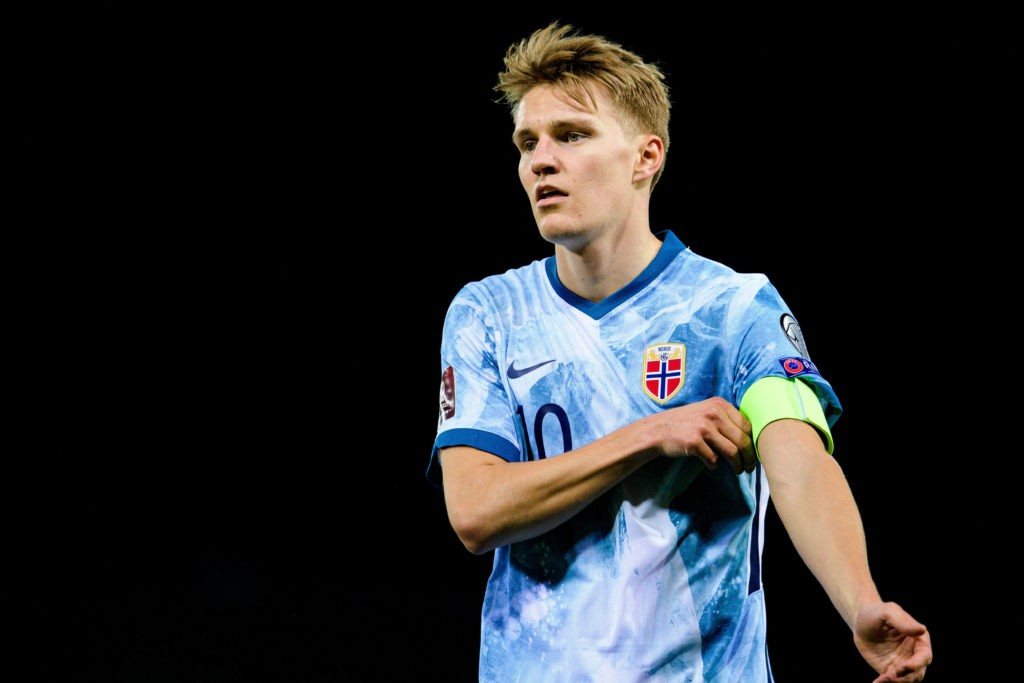 Martin Odegaard of Norway during the FIFA World Cup Qualifier match between Gibraltar and Norway on March 24, 2021, in Gibraltar. Photo: Vegard Wivestad Grott / BILDBYRAN
