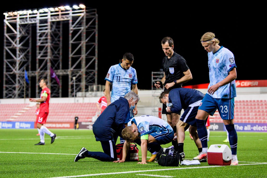 Martin Odegaard injury update after Norway substitution