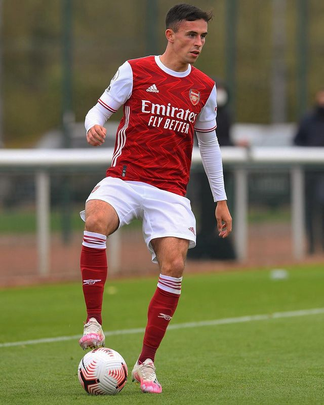 Jordan McEneff with Arsenal (Photo via McEneff on Instagram)