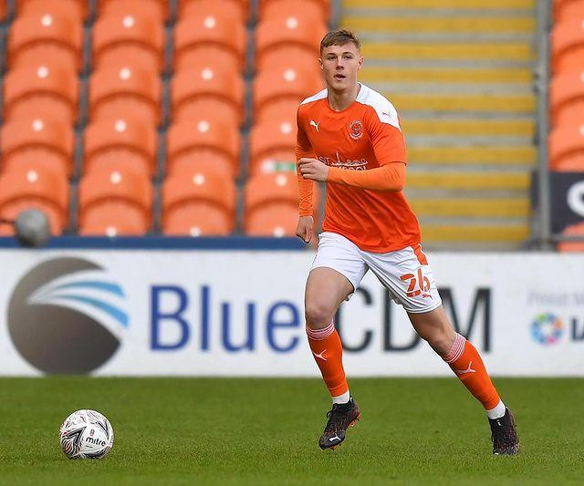 Daniel Ballard with Blackpool (Photo via Ballard on Instagram)