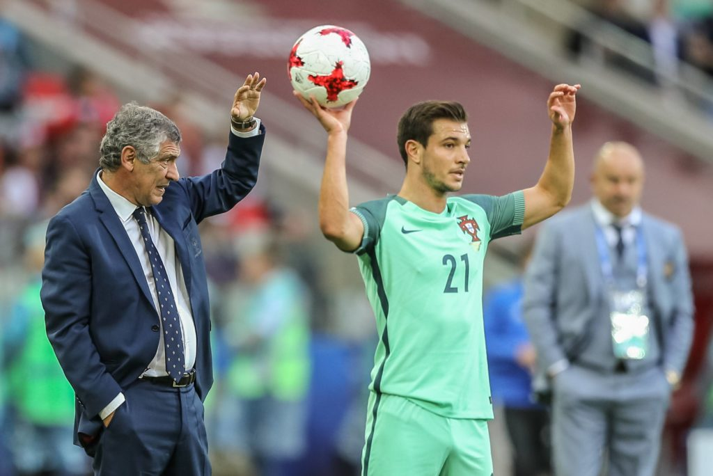 Matchday 2 of the 2017 Confederations Cup, Russia against Portugal. Feranndo Santos and Cedric Soares (R). Photo: Jorge Amaral