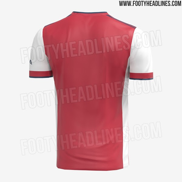 Arsenal Home Kit 2021-22 Leaks (Photo via FootyHeadlines.com)
